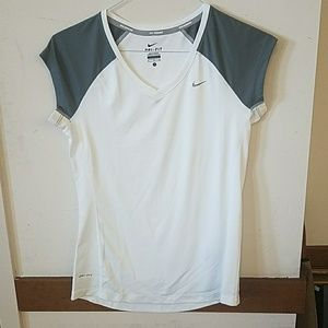 Nike dri-fit miller white and grey tee